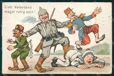 WWI WW1 Propaganda Landwehr Infanterie Regiment Pola nr  5 TEAR postcard XF3498