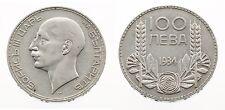 Bulgarien: 100 Leva 1934 - Boris III. - Silber