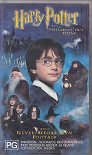 PAL VHS VIDEO TAPE : HARRY POTTER AND THE PHILOSOPHER'S STONE