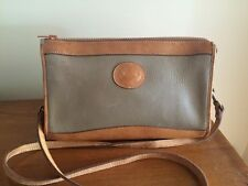 VINTAGE DOONEY & BOURKE ALL LEATHER PURSE BAG CLASSIC ZIP TOP TAUPE TAN STRAP