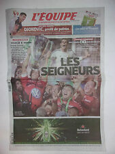 L'EQUIPE 25 MAI 2014 CHAMPIONS LEAGUE REAL MADRID / TOULON CHAMPION EUROPE