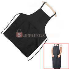 Restaurant Kitchen Cook Chef Full Bib Apron With Pocket Black For Men Women