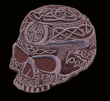 CELTIC GOTHIC SKULL EMBROIDERED INFIDEL CRUSADER MORALE HOOK LOOP  PATCH