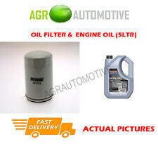 PETROL OIL FILTER + SS 10W40 OIL FOR LAND ROVER FREELANDER 2.5 177BHP 2000-06