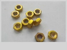 Nuts. M3 Brass Full Nuts. Pack 100.