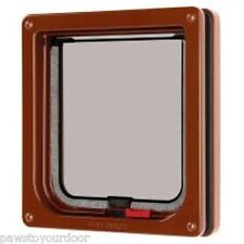 Petmate Cat Mate Gatera Pet Door marrón 304b bloqueable Catflap
