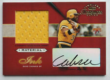 Dave Cobra Parker 2003 Timeless Treasures Material Ink Certified Auto #16/75