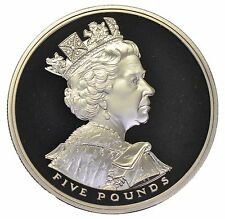 2002 £5 ROYAL MINT CROWN GOLDEN JUBILEE ACCESSION 5 POUND COIN a