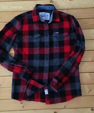 H5 Penfield Madewell Chatham Buffalo Plaid Flannel Check Top XS Red Wool Jcrew