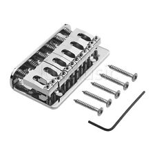 Chrome Fixed Hard Tail Hardtail Guitar Bridge For Electric Strat Parts 69*37mm