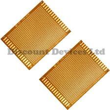 2x   70x90mm Bakelite 1.2mm Single Side Copper Prototype PCB Matrix Board