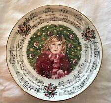 ROYAL DOULTON Christmas Carols PLATE SILENT NIGHT collectible 1st in series EUC