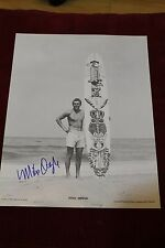 Mike Doyle AUTOGRAPHED Tiki Hawaii Surfboard Pig Log Hog 12x14in. Surfing Poster