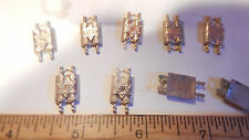 6 Vintage 30-40s Star Of David Scroll Gold Plate Brass Solid Findings