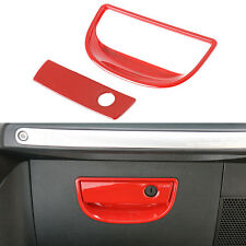 Car Inner Co-Pilot Storage Box Handle Cover Trim-Red for 11-16 Jeep Wrangler JK