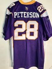 Reebok Authentic NFL Jersey Vikings Adrian Peterson Purple sz 46