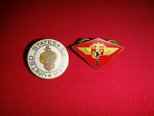Set Of 2 USMC Lapel Pins:  UNITED STATES MARINES + 1st MARINE AIRCRAFT WING