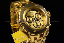 Invicta Resrve 52mm Specialty Subaqua Swiss Movt Chrono 18K Gold Plated SS Watch