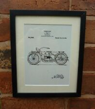 USA Patent Drawing HARLEY DAVIDSON ZISKA MOTORCYCLE BIKE  PRINT 1919 Gift