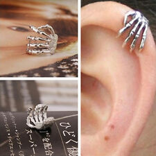 Fashion Skeleton Hand Ear Cuff Silver Plated Ear Bone Personality Clip Earring W