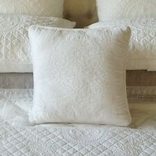 Olivia Quilted White Cushion Cover 45 x 45