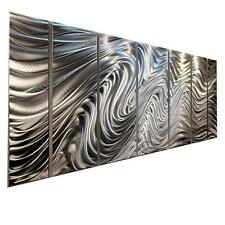 Large Silver Metal Wall Art Sculpture Painting - Contemporary Decor by Jon Allen