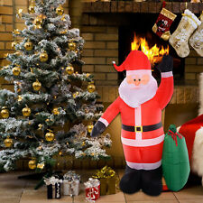 8 Ft Airblown Inflatable Christmas Xmas Santa Claus Gift Decor Lawn Yard Outdoor