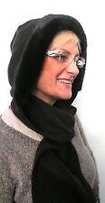 Schalmütze Kapuzenschal schwarz Webpelz Mütze  Windschutz Winter Damenmüten