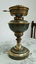 Victorian Original Samuel Messenger Punkah Military Brass Oil Lamp Burner Font