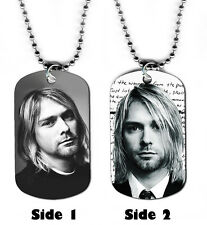 DOG TAG NECKLACE - Kurt Cobain 1 Nirvana Singer Songwriter rock grunge music