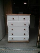 OLD MILL ARIZONA COUNTRY 4+2 DRAWER CHEST CREAM WITH PINE TRIM NO FLAT PACKS