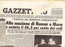 F1 IL GAZZETTINO N.212 DEL 18 SET 1964 - I RISULTATI DEL CONGRESSO DEMOCRISTIANO
