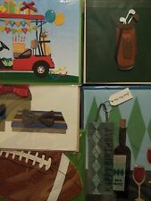 PAPYRUS BRAND- MALE/FOR HIM BIRTHDAY THEME HANDMADE GREETING CARDS- BUNDLE OF 5