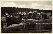 BOCKSWIESE Harz alte AK Häuser Partie Teilansicht Turm Strassen Partie um 1930