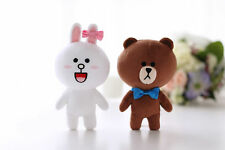 "LINE Friends Character Brown&Cony Couple Set 7""(18cm) Stuffed Plush Doll Toy"