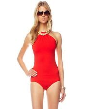 $402 MICHAEL KORS Collection 4 Red One Piece Metal Necklace Detail SWIMSUIT