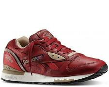 Reebok Men's LX 8500 Retro Running Shoe Leather Burgundy Red Tan New Size 13
