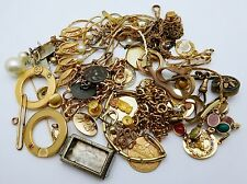 VINTAGE Lot of Gold Filled Jewelry Scrap Lot * 144.9 grams *
