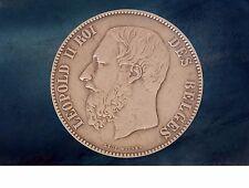 Pièce monnaie coin munt 1873 - 5 francs - Leopold II Belgique - Belgium