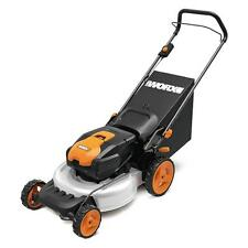"WG770 WORX 19"" 36V 2-in-1 Cordless Mower w/ Single Lever Depth Setting"