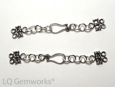 2 ea Bali STERLING SILVER Double (2 Strand) Hook Clasps