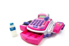 Children's Pretend Play Electronic Cash Register Playset Gift Toy Pink PS15C