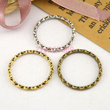 25Pcs Tibetan Silver,Antieuqd Gold,Bronze Circle Charms Links Connectors M1496