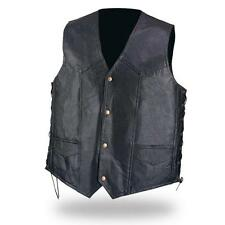 "Gilet JACKET en cuir "" Simple modèle + LACETS  Taille XXL- 2XL   Bikers Country"