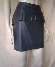 WOMENS OASIS BLACK FAUX LEATHER PENCIL/MINI SKIRT UK SIZE 10 EU 36