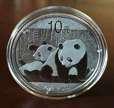 2010 China 1 oz Silver Panda BU In Capsule 10 Yuan Coin/Bullion