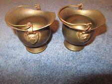 Vintage small Scuttle bucket Copper Brass Coal ash Scuttle Bucket Mini Lion Head