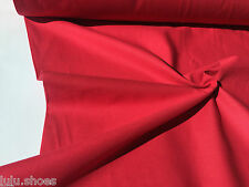 Plain Cotton Fabric Material - Solid Colours to choose - 120cm wide per metre