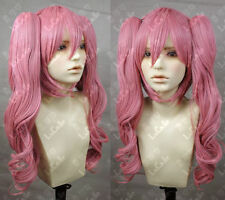 One Piece Perona Pink Cosplay Wig wis Ponytail Z0723