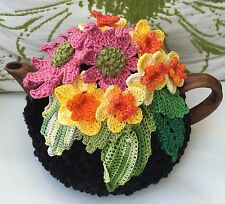 NEW  Handmade Tea Cozy Daffodils And Gerberas From Ukrainian Designer